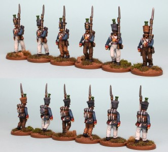 28mm French Reinforcement pack FNRPK23 (front & rear view) / painted by Richard Abbott.
