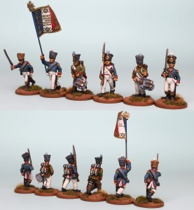 28mm French Reinforcement pack FNRPK25 (front & rear view) / painted by Richard Abbott