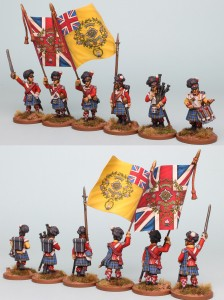 28mm Highland Reinforcement pack BNRPK27 (front and rear view) Painted by Richard Abbott