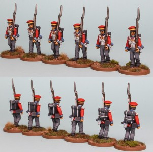 28mm Hanoverian Reinforcement pack HNRPK1 (front and rear view) painted by Richard Abbott