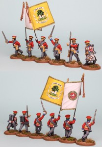 28mm Hanoverian Reinforcement pack HNRPK2 (front and rear view) painted by Richard Abbott. Flags by GMB