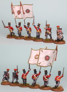 28mm Hanoverian Reinforcement packs HNRPK3 (front and rear view) painted by Richard Abbott. Flags by GMB.