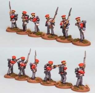 28mm Hanoverian Reinforcement pack HNRPK4 (front and rear view) painted by Richard Abbott
