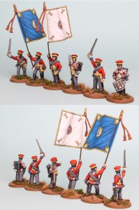 28mm Hanoverian Reinforcement pack HNRPK5 (front and rear view) painted by Richard Abbott. Flags by GMB.