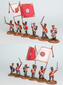 28mm Hanoverian Reinforcement pack HNRPK6 (front and rear view) painted by Richard Abbott. Flags by GMB.