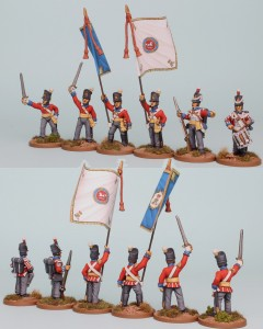 28mm Hanoverian Reinforcement pack HNRPk10 painted by Richard Abbott. Flags by GMB.