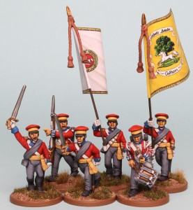 28mm Hanoverian Reinforcement pack HNRPK2 painted by Richard Abbott. Flags by GMB