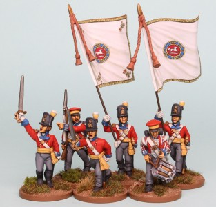 28mm Hanoverian Reinforcement pack HNRPK3 painted by Richard Abbott. Flags by GMB