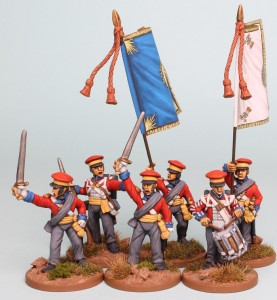 28mm Hanoverian Reinforcement pack HNRPK5 painted by Richard Abbott. Flags by GMB