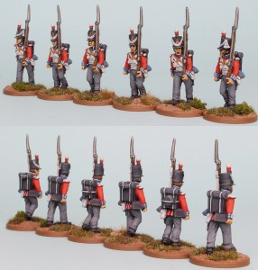 28mm Hanoverian Reinforcement pack HNRPK7 (front & rear view) painted by Richard Abbott