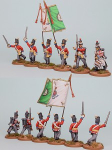 28mm Hanoverian Reinforcement pack HNRPK8 (front & rear view) painted by Richard Abbott. Flags by GMB