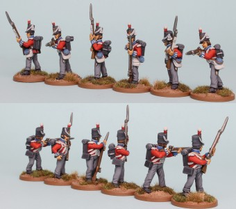 28mm Hanoverian Reinforcement pack HNRPK9 (front & rear view) painted by Richard Abbott