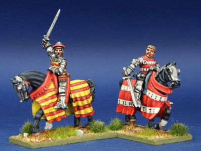 28mm HYW, MPK13 pack painted by Chris Lawton.  Figures left to right painted as Edward Count of Grandpre and Robert Lord Beaumenil