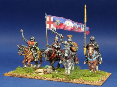 28mm WoR. Richard III mounted group. Flag by John Hutchinson.