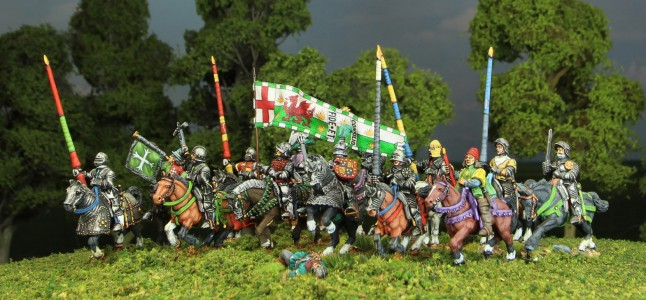 28mm Wars of the Roses Henry Tudor Cavalry group / Flag by Jon Hutchinson