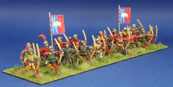 28mm WoR Archers. Flags by Battleflags.