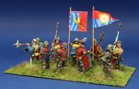 28mm WoR Infantry group 2. Flags by Battleflags.