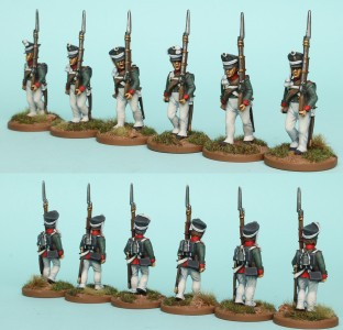 28mm Russian Reinforcement pack RNRPK1 (front & rear view) / painted by Richard Abbott