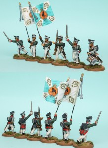28mm Russian Reinforcement pack RNRPK2 (front & rear view) / painted by Richard Abbott