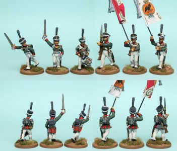 28mm Russian Reinforcement pack RNRPK4 (front & rear view) / painted by Richard Abbott