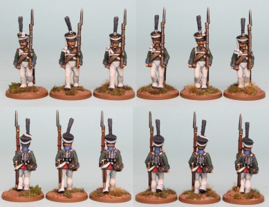 28mm Russian Reinforcement pack RNRPK11 (front & rear view) / painted by Richard Abbott
