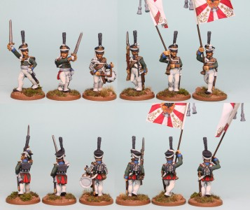 28mm Russian Reinforcement pack RNRPK12 (front & rear view) / painted by Richard Abbott