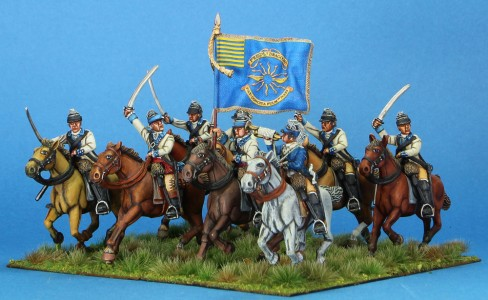 40mm AWI The 3rd Continental Light Dragoons, painted by Tony Runkee. Flag by Jon Hutchinson.