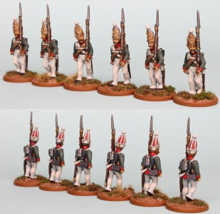 28mm Russian Reinforcement pack RNRPK13 (front & rear view) / painted by Richard Abbott