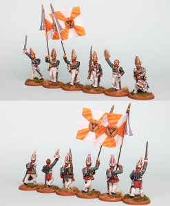 28mm Russian Reinforcement pack RNRPK14 (front & rear view) painted by Richard Abbott. Flags by GMB Designs