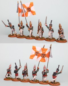 28mm Russian Reinforcement pack RNRPK15 (front & rear view) painted by Richard Abbott. Flags by GMB Designs.
