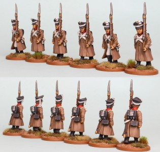 28mm Russian Reinforcement pack RNRPK16 (front & rear view) painted by Richard Abbott.
