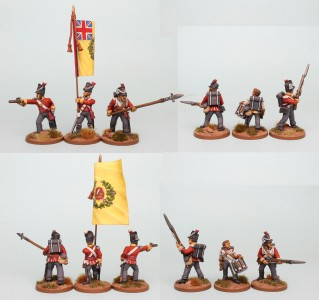 28mm British Reinforcement pack, Defend the Colour! BNRPK29, painted by Richard Abbott, flag by GMB Design.