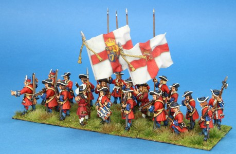 28mm Late 17th Century. Irish Foot Guards, painted by Steve Dyer. Flag by John Hutchinson