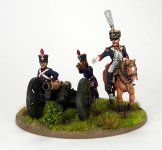 28mm French Artillery and Infantry General, image 1. Painted by Sascha Herm.