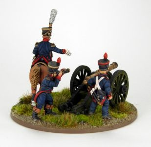 28mm French Artillery and Infantry General, image 3. Painted by Sascha Herm.