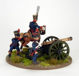 28mm French Artillery and Infantry General, image 4. Painted by Sascha Herm.
