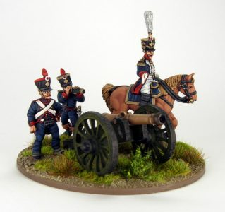 28mm French Artillery and Infantry General, image 5. Painted by Sascha Herm.