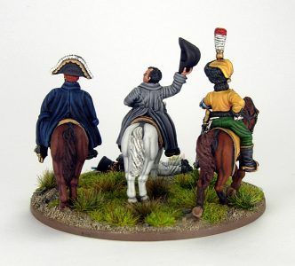 28mm French Command base. Napoleon, Marshall Ney and ADC, image 3. Painted by Sascha Herm.