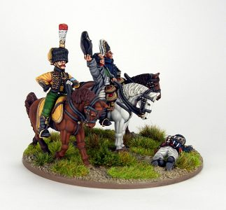 28mm French Command base. Napoleon, Marshall Ney and ADC, image 4. Painted by Sascha Herm.
