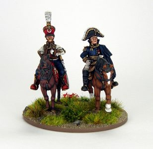 28mm French - Marshall Soult and ADC, image 1. Painted by Sascha Herm.