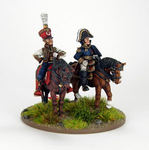 28mm French - Marshall Soult and ADC, image 6. Painted by Sascha Herm.