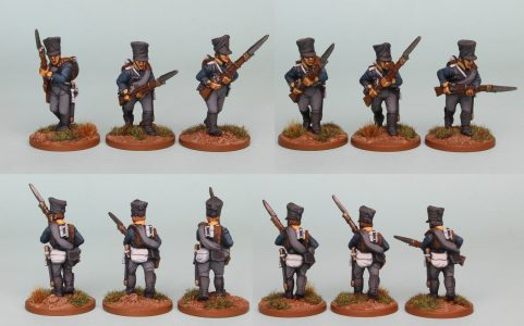 28mm Napoleonic Prussian pack PSNRPK5 painted as Fusiliers of the 10th Infantry Regiment (1st Silesian) Painted by Richard Abbott.