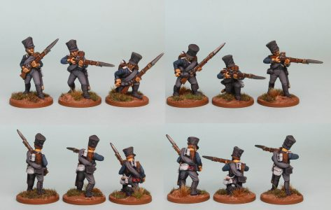 28mm Napoleonic Prussian pack PSNRPK6 painted as Fusiliers of the 10th Infantry Regiment (1st Silesian) Painted by Richard Abbott.