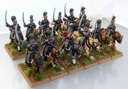 28mm Napoleonic Wurttemburg Chasseurs-a-Cheval. Painted by Michael Heynen.