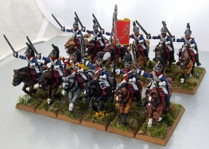 28mm Napoleonic Wurttemburg Chevau-Legers. Painted by Michael Heynen.