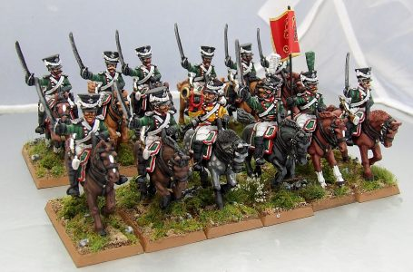 28mm Napoleonic Wurttemburg Dragoons. Painted by Michael Heynen.