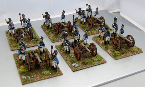 28mm Napoleonic Wurttemburg  Foot Artillery. Painted by Michael Heynen.