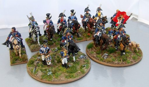28mm Napoleonic Wurttemburg Generals & Command. Painted by Michael Heynen.