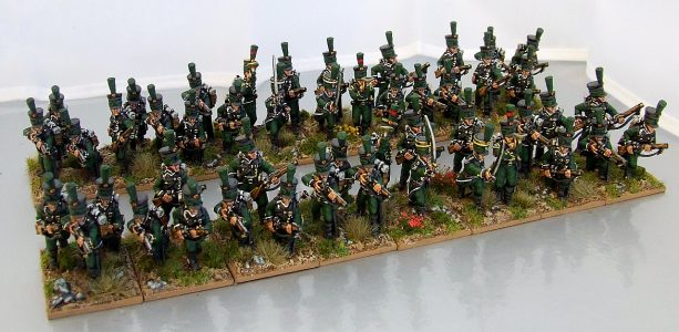 28mm Napoleonic Wurttemburg Jagers. Painted by Michael Heynen.