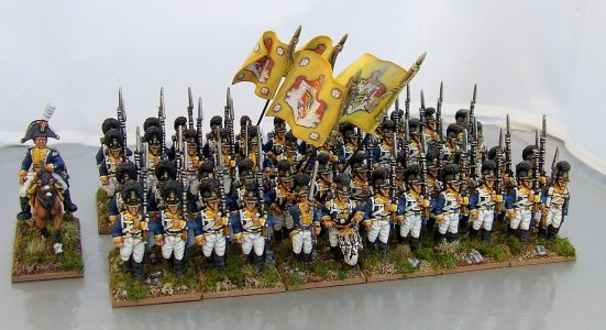28mm Napoleonic Wurttemburg Line Infantry. Painted by Michael Heynen.